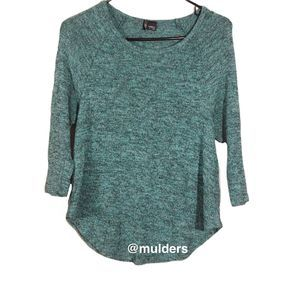 Urban Outfitters   turquoise pullover sweater